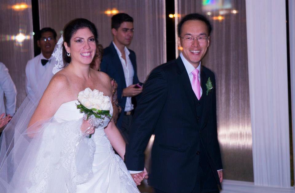 Peruvian Chinese couple marriage
