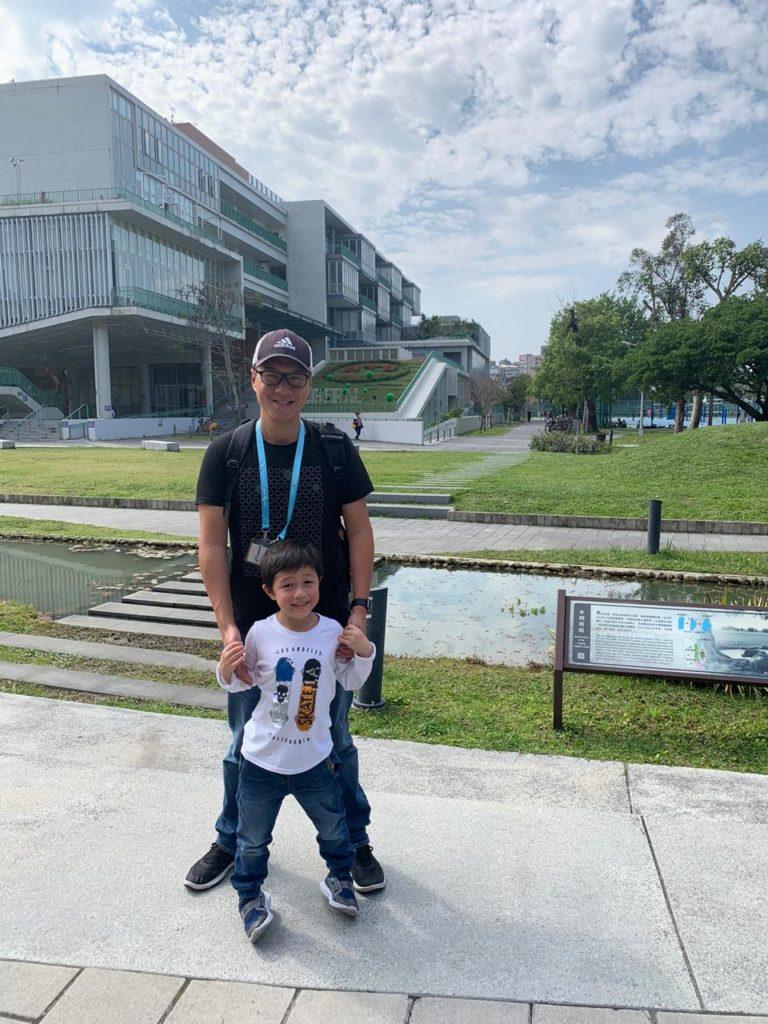 Man and son at National Taiwan University.
