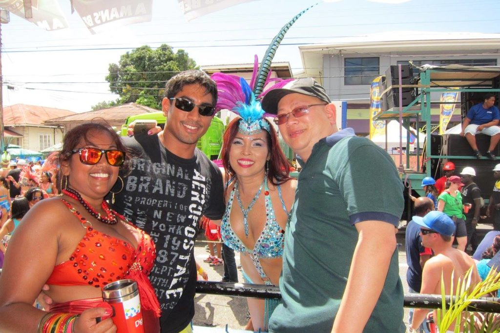 chinese trinidadian in carnival